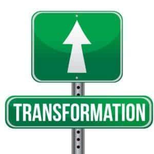Transformation road sign illustration design